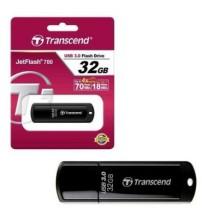 Transcend 32GB Flash Drive JetFlash 700 USB 3.1 Gen1 Pendrive- Black